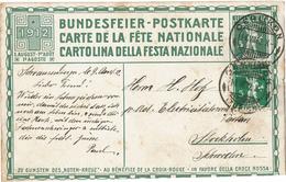 BR39 - SUISSE FETE NATIONALE 1912 - Entiers Postaux