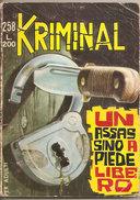 KRIMINAL N. 258 UN ASSASSINO A PIEDE LIBERO CORNO - Libri, Riviste, Fumetti