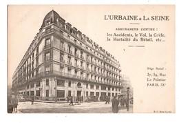 """75 - PARIS . """" L'URBAINE & LA SEINE """" . ASSURANCE . 37, 39, RUE LE PELETIER - Réf. N°720 - - Arrondissement: 19"""