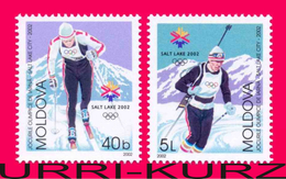 MOLDOVA 2002 Sports Sport Skiing Biathlon XIX Winter Olympics Olympic Games Salt Lake City USA 2v Mi421-422 Sc407-408 - Winter 2002: Salt Lake City
