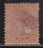 1s Used Perf 12 X 11½, New Zealand 1882 Onwards, (cond., Paper Thinned, As Scan) - 1855-1907 Crown Colony