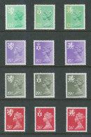 GRANDE-BRETAGNE - 1982 - REGIONAUX - NEUFS ** LUXE/MNH - Yvert # 1027/1038 - Série Complète 12 Valeurs - Non Classés