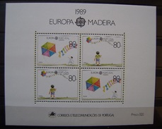 MADEIRA - IVERT HB 10 - NUEVOS (**) TEMA EUROPA - CEPT 1989 (R032) - Otros - Europa