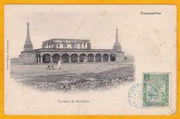 1906 - CP De Tananarive, Madagascar Colonie Vers St Omer, France - Affrt 5 C  Palmier - Vue Tombeau De Rainiharo - Storia Postale