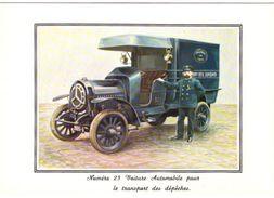 Document Du Musée Postal  Voiture Automobile Pour Le Transport Des Dépêches - Museen