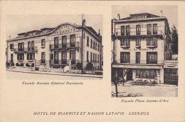 Lourdes - Hôtel De Biarritz - Maison Latapie - Place Jeanne D'Arc - Avenue Général Maransin - Lourdes