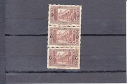 "ALGERIE  1936-37    BANDE De  3 Timbres  +1f.00 Brun Oblitere  "" MOSQUEE  EL KEBIR A Alger "" - Oblitérés"