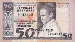 MADAGASCAR   50 Francs = 10 Ariary   ND (1974-75)   Sign.1   P. 62a - Madagascar