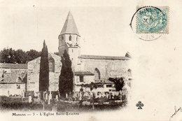 CPA MARANS - L'EGLISE ST ETIENNE - Autres Communes