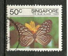 Singapore 1982 50c Blue Glassy Tiger Issue #388 - Singapore (1959-...)