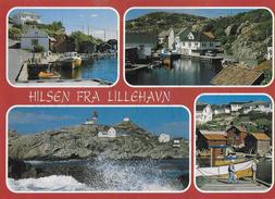 NORVEGIA - HILSEN FRA LILLEHAVN - VIAGGIATA FRANCOBOLLO ASPORTATO - Norvegia