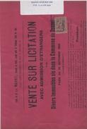 TIMBRES FISCAUX DE FRANCE AFFICHE N° 10  5 C Et 2/10 Sur Affiche Du 28 Octobre 1896 - Fiscaux