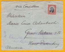 CHILI VIA CORDILLERA - 1901/1918 - LOT De 3 Envel/carte Vers Allemagne Et Argentine Par La Voie Des Andes - Chili