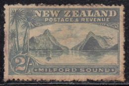 2s Used On Watermark Paper Unchecked Variety, New Zealand 1898 Onwards, Milford Sound, - Used Stamps