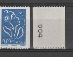 FRANCE / 2006 / Y&T N° 3973 ** : Lamouche Roulette 0.60 € Bleu (n° à Droite) - Gomme D´origine Intacte - France