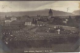 BULLE Carte Photo Culte Militaire Régiment 7,1914 - FR Fribourg