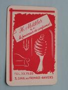 H. MITTLER S.A. Le Fourreur De Confiance Canal Du Fromage ANVERS / JOKER ( Details - Zie Foto´s Voor En Achter ) !! - Playing Cards (classic)