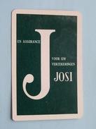 JOSI Voor Uw Verzekeringen Assurance / JOKER ( Details - Zie Foto´s Voor En Achter ) !! - Playing Cards (classic)