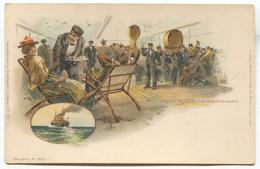 Navy, Marine, Ship, Boat - Steamer BISMARCK Germany, Litho, Old Postcard - Paquebots