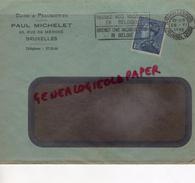 BELGIQUE - BRUXELLES- PAUL MICHELET -CUIRS PEAUSSERIES-MEGISSERIE-60 RUE DE MERODE- 1938 GANTERIE TANNERIE - Belgium