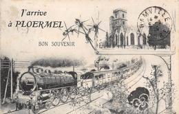 56-PLOERMEL- J'ARRIVE A PLOERMEL  BON SOUVENIR - Ploërmel
