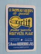 KARLIT Wallboard Suedois S.A. Van HOOREBEKE & Fils Langerbrugge / JOKER ( Details - Zie Foto´s Voor En Achter ) !! - Cartes à Jouer Classiques