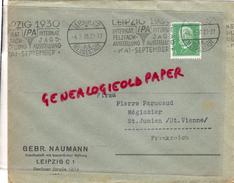 ALLEMAGNE- LEIPZIG -BERLINER STRASSE 12/14- GEBR. NAUMANN -1930 A PIERRE PERUCAUD MEGISSERIE SAINT JUNIEN - 1900 – 1949