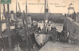 56-QUIBERON- PORT-MARIA- VAPEUR A QUAI - Quiberon