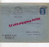 ALLEMAGNE- HAMBURG- H. MEYER & CO- VICTORLASTRASSE 11/17- A PIERRE POINTU MEGISSERIE 1928- SAINT JUNIEN - 1900 – 1949