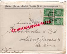 ALLEMAGNE- BERLIN -LEON LEPOLADSKI- 50 REGENSBURGER STR.13- A PIERRE POINTU MEGISSERIE 1926- SAINT JUNIEN - 1900 – 1949