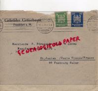 ALLEMAGNE- FRANKFURT - GEBRUDER GRUNEBAUM- A PIERRE PERUCAUD MEGISSERIE SAINT JUNIEN-1926 - 1900 – 1949