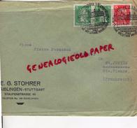 ALLEMAGNE-AIBLINGEN-STUTTGART-E.G. STOHRER-STAUFENSTRASSE 46-A PIERRE PERUCAUD 1928 MEGISSERIE SAINT JUNIEN - Germany
