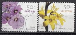 2619 Australia 2007 Fiori Flowers Di Sturt Desert Rose - Phebalium Whitei Perf. 11 E 1/4 Autoadesivo - Vegetazione