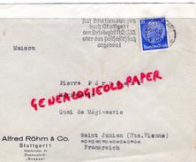 ALLEMAGNE- STUTTGART 1- ALFRED ROHM & CO- EBERHARDSTRASSE 61- A PIERRE PERUCAUD MEGISSERIE SAINT JUNIEN-1935 - 1900 – 1949