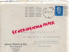 ALLEMAGNE- STUTTGART -ALFRED ROHM & CO-  - A PIERRE PERUCAUD MEGISSERIE SAINT JUNIEN-1932 GANTERIE - Germany