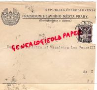 TCHEKIE- REPUBLIKA CESKOSLOVENSK-PRAESIDIUM HLAVNIHO MESTA PRAHY- S. CIZINOU -1924 - Factures & Documents Commerciaux