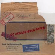 ALLEMAGNE-BERLIN W 8- BANK FUR MONTANINDUSTRIE-AKTIENGESELLSCHAFT- LUFTPOST 1935 - Germany