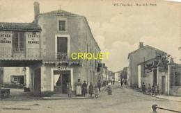 85 Vix, Rue De La Poste, Animée, Café... - Autres Communes