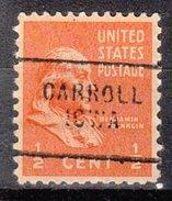 USA Precancel Vorausentwertung Preos Locals Iowa, Carrol 703