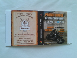 ROMANIA-HARLEY DAVIDSON / ADVERTS-MATCHBOX SKILLET-GRAFINET MATCHBOXES FACTORY,NEW PERIOD - Zündholzschachteln