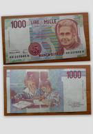 BANCONOTA DA 1.000 LIRE REPUBBLICA ITALIANA CON 3 HH......H - MONTESSORI - - 1000 Lire