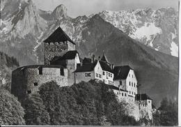 LIECHTENSTEIN - CASTELLO DI VADUZ- B/N - VIAGGIATA1969 - FRANCOBOLLO ASPORTATO - Liechtenstein