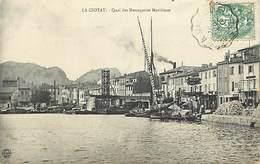 - Ref-R433- Bouches Du Rhone - La Ciotat - Quai Des Messageries Maritimes - Bateaux - Petit Plan Magasins - - La Ciotat