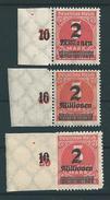 MiNr. 312 Aa, Ab + B **  (0413) - Deutschland