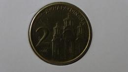 Serbia - 2006 - 2 Dinar - KM 46 - VF - Look Scans - Serbie
