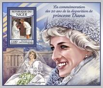 Niger - Postfris / MNH - Sheet Prinses Diana 2017 - Niger (1960-...)
