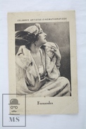 Old Trading Card/ Chromo Topic Cinema/ Movie - Spanish Chocolate Advertising - Actress: Fern Andra - Chocolate