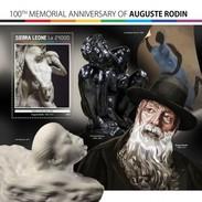 Sierra Leone - Postfris / MNH - Sheet Auguste Rodin 2017 - Sierra Leone (1961-...)