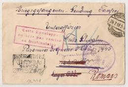 Prisonniers De Guerre MARSEILLE CENSURE 6 Puis Romans Drome. Enveloppe Pas Remise. FREIBURG Deutschland. - Guerre De 1914-18