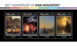 Sierra Leone - Postfris / MNH - Sheet Ivan Ayvazovsky 2017 - Sierra Leone (1961-...)